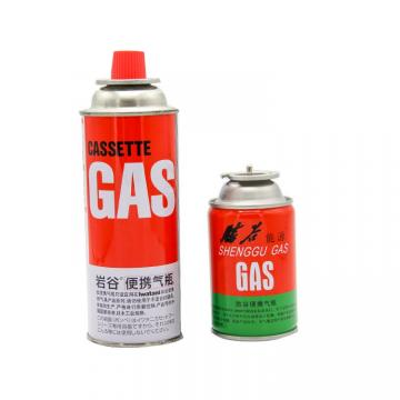 Portable Fuel Cylinder Cooker round Shape Portable Butane Gas Cartridge 250g and Butane Gas Canister