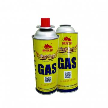 220g-250g butane gas Butane gas canister and tinplate BBQ butane gas cartridge