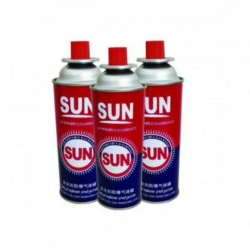 400ml 227g portable camping Empty Aerosol Gas Cans for Filling Butane