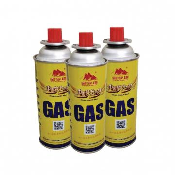 Strong quality tinplate aerosol straight butane gas can refillable For portable gas stoves